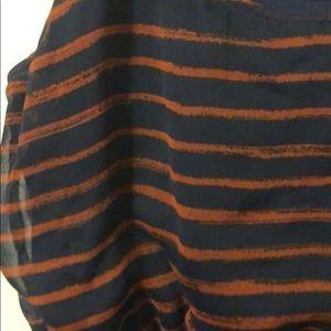 Xhilaration Dresses - Blue and red striped dress